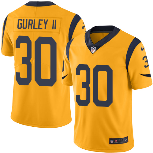 Men's Nike Los Angeles Rams #30 Todd Gurley Limited Gold Rush Vapor Untouchable NFL Jersey