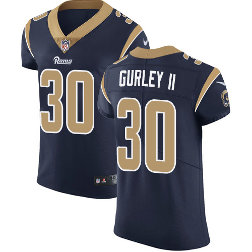 Men's Nike Los Angeles Rams #30 Todd Gurley Navy Blue Team Color Vapor Untouchable Elite Player NFL Jersey