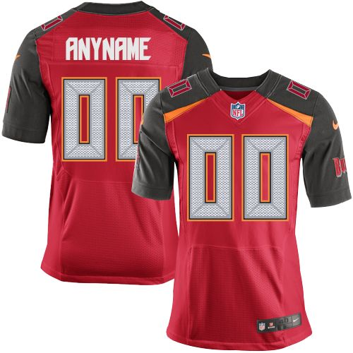 Men's Nike Tampa Bay Buccaneers Customized Elite Red Team Color NFL Jersey