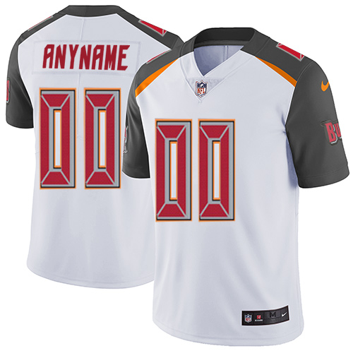 Men's Nike Tampa Bay Buccaneers Customized White Vapor Untouchable Custom Limited NFL Jersey