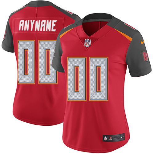 Women's Nike Tampa Bay Buccaneers Customized Red Team Color Vapor Untouchable Custom Elite NFL Jersey